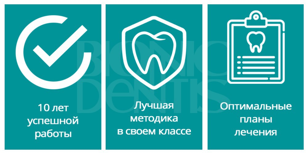 "Протезирование на имплантах в клинике ""Бионик Дентис"""
